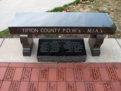 Tipton County P.O.W.'s - M.I.A.'s  (Memorial Bench) image. Click for full size.
