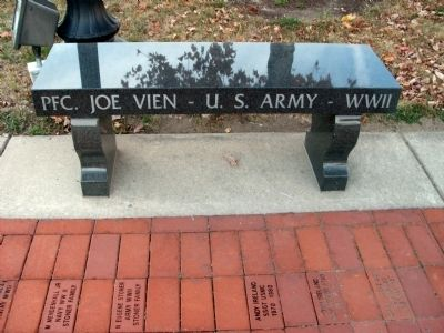 PFC. Joe Vien - U. S. Army - WW II (Memorial Bench) image. Click for full size.