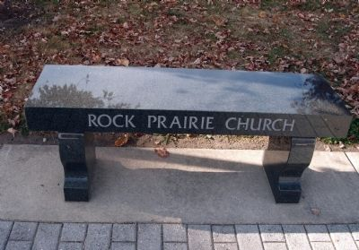 Rock Prairie Church (Memorial Bench) image. Click for full size.