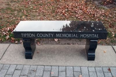 Tipton County Memorial Hospital (Memorial Bench) image. Click for full size.