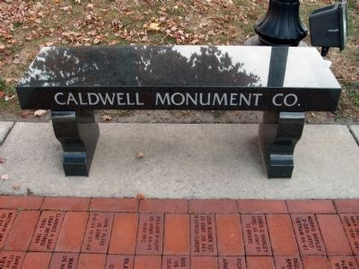 Caldwell Monument Co. (Memorial Bench) image. Click for full size.