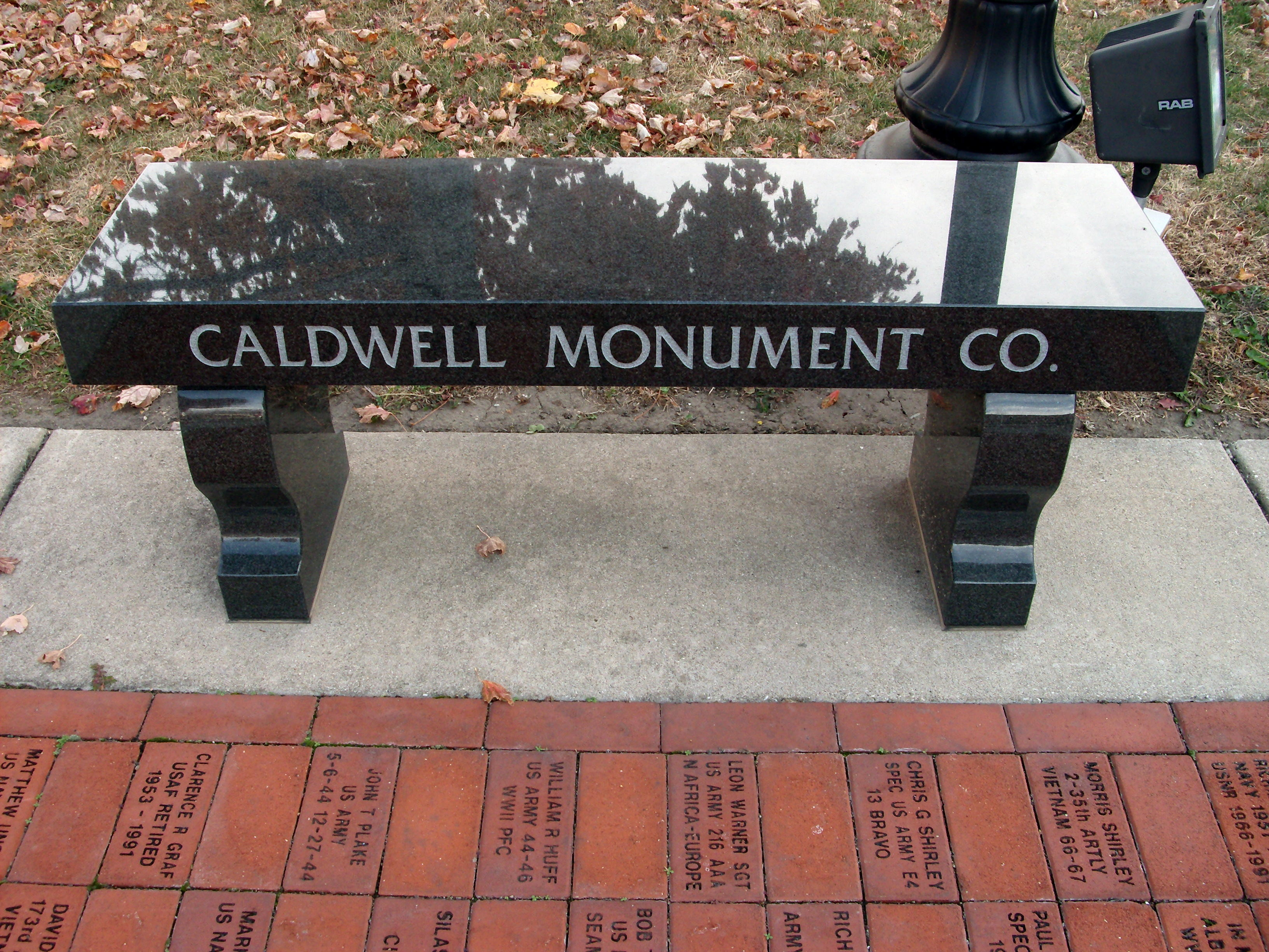 Caldwell Monument Co. (Memorial Bench)