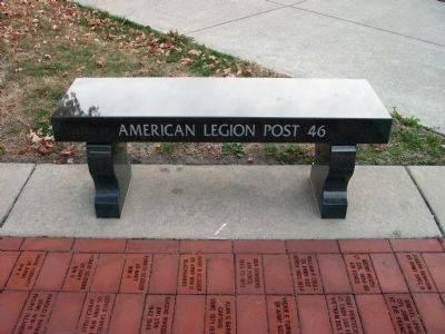 American Legion Post 26 (Memorial Bench) image. Click for full size.