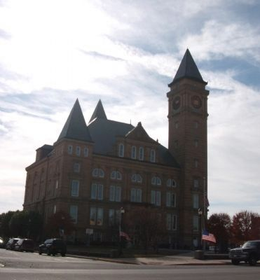 North / East Corner - - Tipton County Courthouse image. Click for full size.