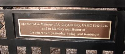 Plaque - - Memorial Bench image. Click for full size.