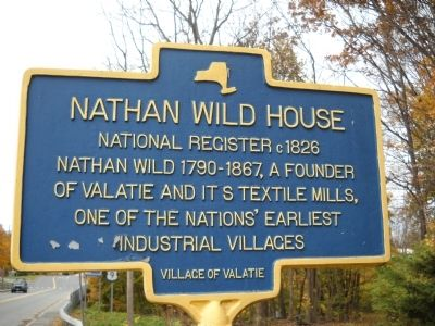 Nathan Wild House Marker image. Click for full size.