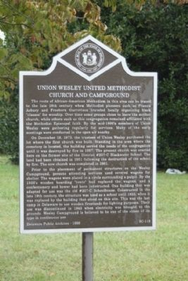 Union Wesley United Methodist Church and Campground Marker image. Click for full size.