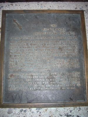 The Rio Grande Irrigation Project Marker image. Click for full size.