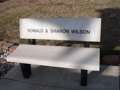 Ronald & Sharon Wilson - - Memorial Bench image. Click for full size.