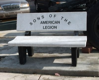 Sons of the American Legion - - Memorial Bench image. Click for full size.