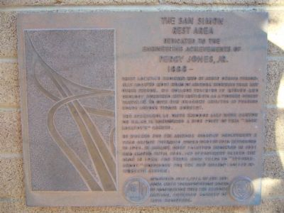 The San Simon Rest Area Marker image. Click for full size.