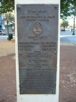 To the Memory of Nine of Primitive El Paso's Patriotic Heroes Marker image. Click for full size.