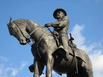 Closeup of Maj. Gen. Oliver Howard Statue image. Click for full size.