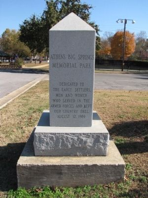 Athens Big Spring Memorial Park Marker image. Click for full size.