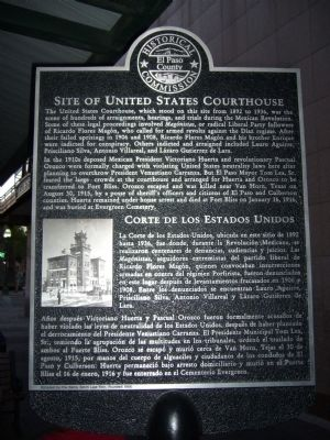 Site of United States Courthouse Marker image. Click for full size.
