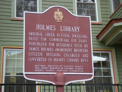 Holmes Library Marker image. Click for full size.