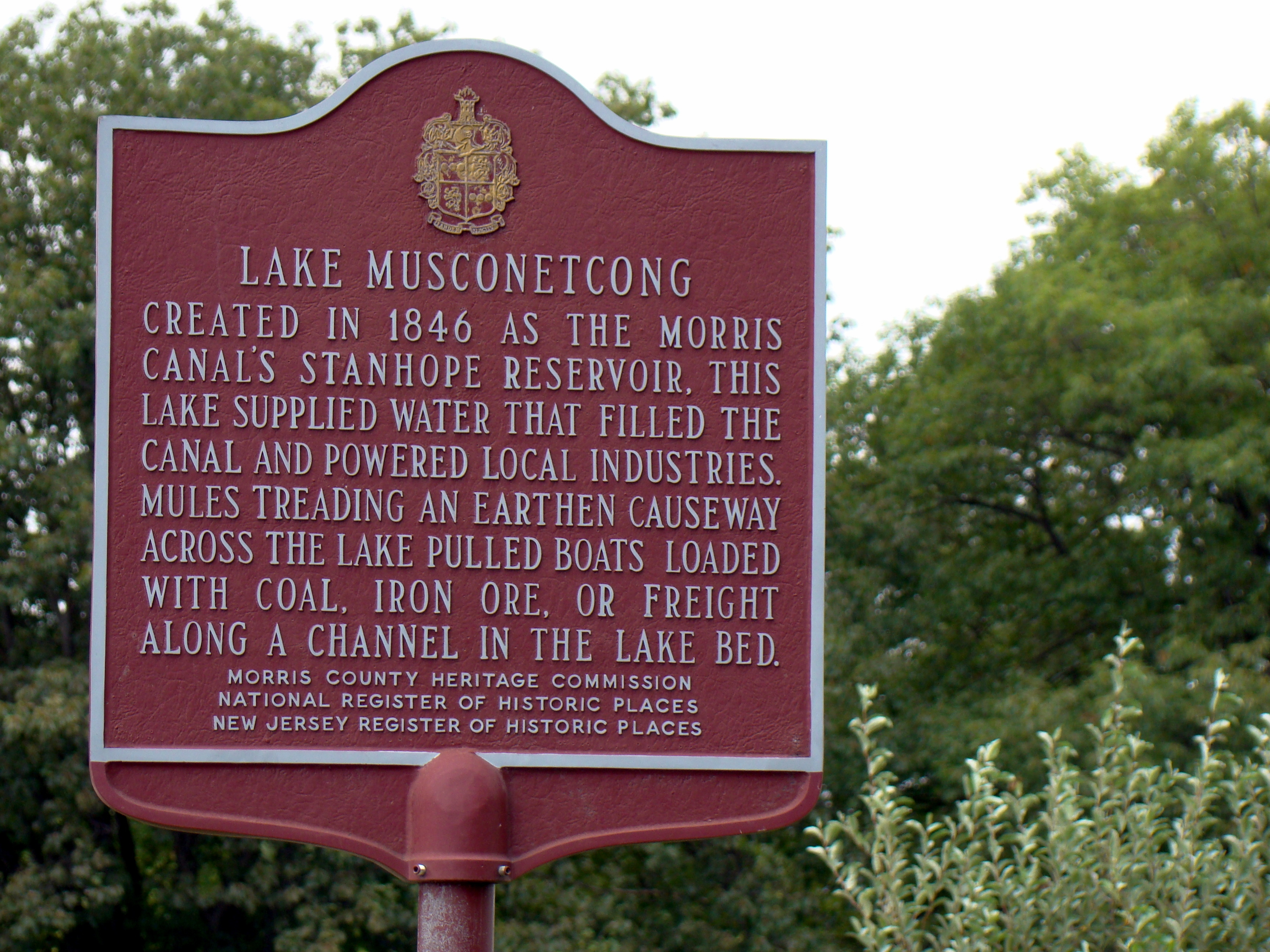 Lake Musconetcong Marker