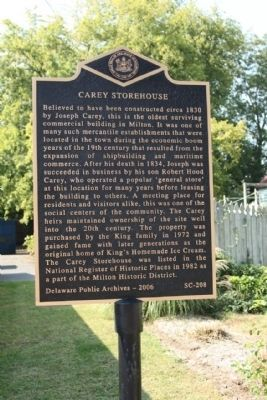 Carey Storehouse Marker image. Click for full size.