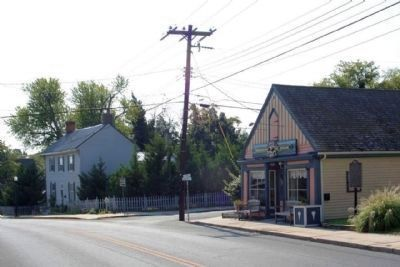 Carey Storehouse Marker, looking south on Union Street (State Route 5) image. Click for full size.