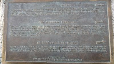 Mount Cristo Rey/ The Gadsden Purchase/ El Paso Smelting Works Marker image. Click for full size.
