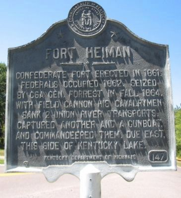 Fort Heiman Marker image. Click for full size.