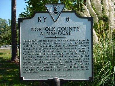 Norfolk County Almshouse Marker image. Click for full size.