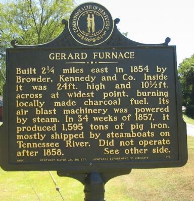 Gerard Furnace Marker image. Click for full size.