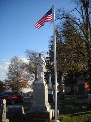 Marker in Evergreen Cemetery image. Click for full size.