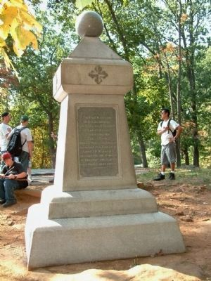 Rear of 2nd Md Infantry Marker image. Click for full size.