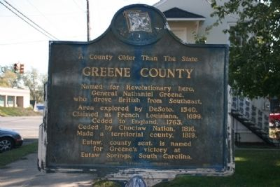 A County Older Than The State, Greene County Marker image. Click for full size.