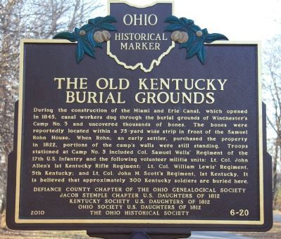 The Old Kentucky Burial Grounds Marker image. Click for full size.