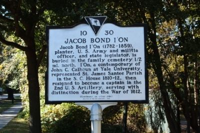 Jacob Bond I'On Marker image. Click for full size.