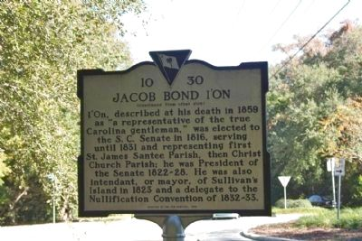 Jacob Bond I'On Marker, reverse side image. Click for full size.
