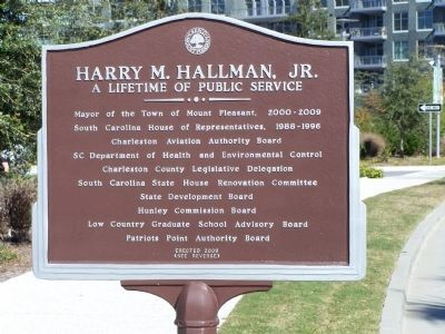 Harry M. Hallman, Jr. Marker, reverse side image. Click for full size.