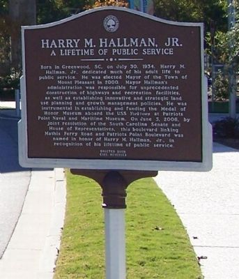 Harry M. Hallman, Jr. Marker image. Click for full size.