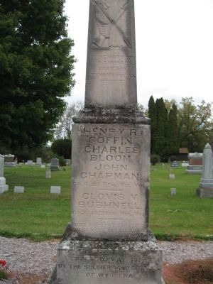 Civil War Monument - West Face image. Click for full size.