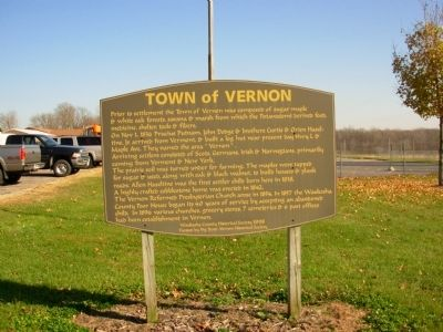 Town of Vernon Marker image. Click for full size.