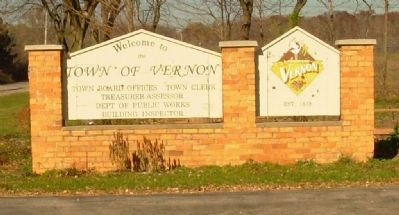 Town of Vernon Municipal Sign image. Click for full size.