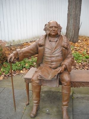 Statue of Martin Van Buren image. Click for full size.