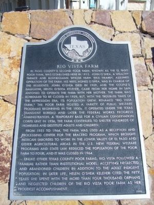 Rio Vista Farm - English - Marker image. Click for full size.