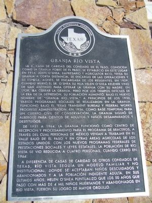 Rio Vista Farm - Spanish - Marker image. Click for full size.