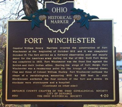 Fort Winchester Marker image. Click for full size.