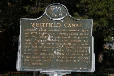 Whitfield Canal Marker image. Click for full size.