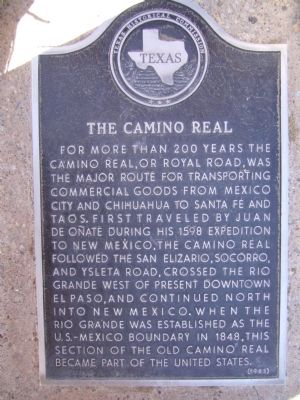 The Camino Real Marker image. Click for full size.