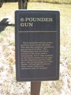 6-pounder Gun Marker image. Click for full size.