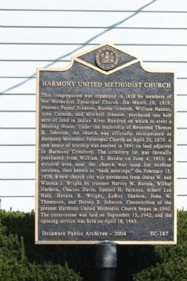 Harmony United Methodist Church Marker image. Click for full size.