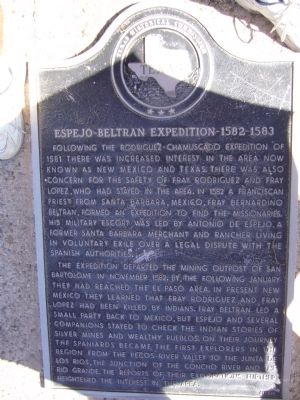 Espejo Beltran Expedition Marker image. Click for full size.