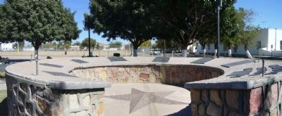 San Elizario Memorial Plaza, Church Road & Glorietta Road image. Click for full size.