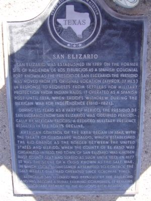 San Elizario Marker image. Click for full size.