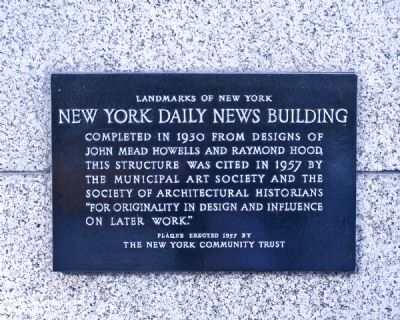 New York Daily News Building Marker image. Click for full size.